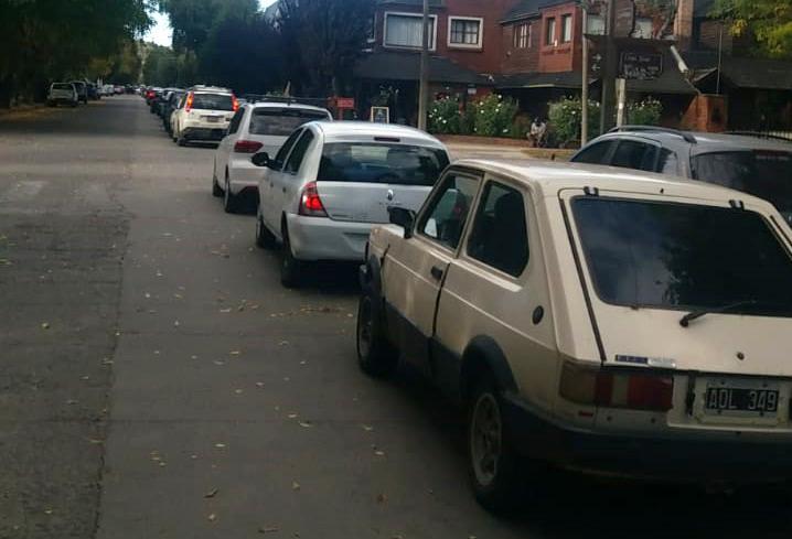 fila de autos